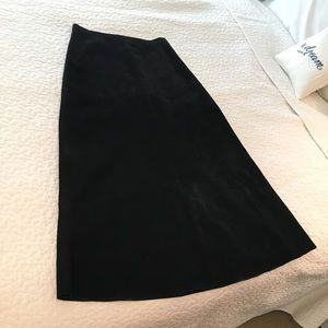 ❤️Long Black Suede Leather Skirt